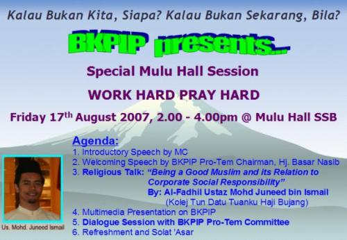 BKPIP Work Hard Pray Hard