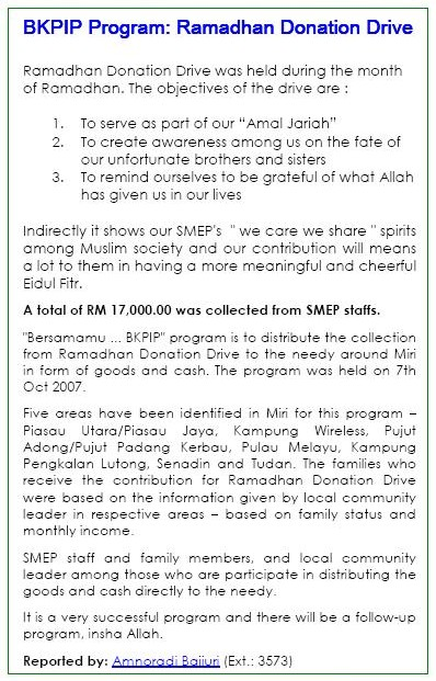 BKPIP Ramadhan DonationDrive