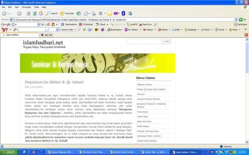 Permohonan MaafIslamHadhari.net